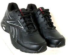 Reebok J83970 DMX Max Mania Black Leather Lace Up Walking Sneaker Women's US 5.5