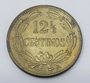 1944 Venezuela 12 1/2 Céntimos Brass