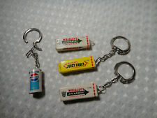 Vintage Keychain Lot Mini Small Wrigleys Spearmint Juicy Fruit Gum Pepsi