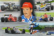 Nigel Mansell Signed Original Oil Painting By Patrick J. Killian