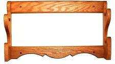 Oak Wooden 2 Place Gun Rack Rifle Shotgun Wall Display - Red Mahogany Finish