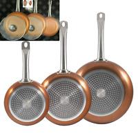San Ignacio SG691 Optimum Cooper-Set of 5 Pieces: 3 Frying Pans 2 Lids-Copper cm