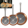 San Ignacio SG691 Optimum Cooper-Set of 5 Pieces: 3 Frying Pans 2 Lids-Copper cm
