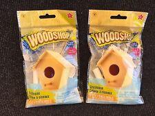Wood Shop Project Bird Houses 2 Sets Complete Build Kit Precut Pieces Kids Craft