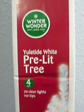 Christmas Holiday Winter Wonder Lane Pre Lit White Tree 4 Foot