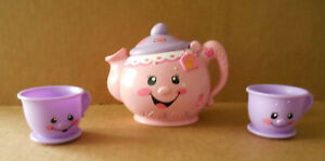Fisher Price Laugh n Learn Talking Tea Pot with 2 Tea Cups