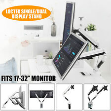 LOCTEK Single Monitor Bracket Arms Monitor Mount Desktop Computer Stand Silver