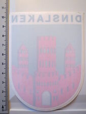 Aufkleber Sticker von Innen Dinslaken Burg Capella Curata Decal (4010)