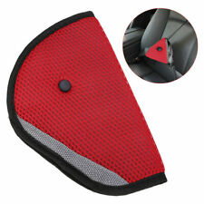 Comfortable Seat Belt Adjuster Car Child Safety Cover Harness RED Triangle Pad