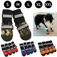 4 Pcs Dog Boots Feet Cover Paw Protectors Shoes Strap Anti-Slip Waterproof Boot