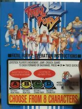 Fatal Fury 2 Neo Geo Mini Arcade Marquee