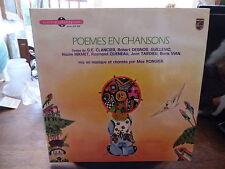 Max Rongier : poèmes en chansons - livre disque philips  6461 038
