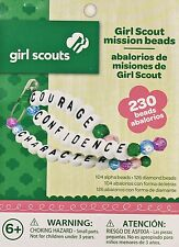 Girl Scouts Mission Beads - 104 Alpha Beads & 126 Diamond Beads Crafts Kids
