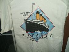 Titanic Tee Shirt White Short Sleeve  Sz X Large HeavyWeight 100 % Cotton Gildan