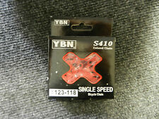 New red yaban 1/8 bicycle chain 112 link single speed bmx fixie and others