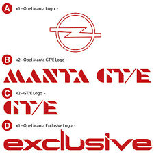 OPEL MANTA  EXCLUSIVE DECAL KIT