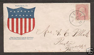 US Sc 64b on colorful Patriotic Cover, Rolla, MO CDS, APEX Cert. Shield