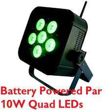 Battery Powered Wireless Rechargeable 10 Watt QUAD LED Par can Light 60w uplight
