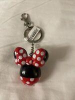 Disney Parks Minnie Mouse Popcorn Balloon Bucket Keychain NWT