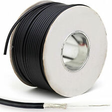 100m Negro rg174u Coaxial Cable -ccs- ANTENA SMA / Tnc Wi-Fi Router carrete
