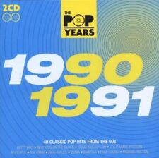 "The Pop Years 1990-1991 ""Various Artists"" NEW 2cd SET - 40 Tracks Posted From UK"