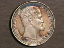 DENMARK 1855FF 1 Rigsdaler Silver AU-Unc - Superb Toning