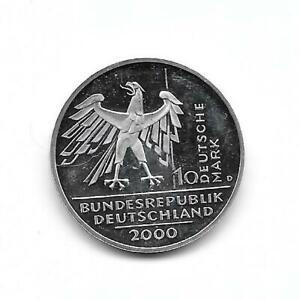 Germany:2000d 10 mark silver (0,935)  10th Anniversary of Reunification PROOF