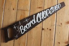 "Saucy Saw Sign ""Beard Chopshop"" Plaque Barber Shop VW Man Cave"