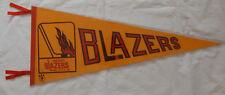 1970's Vintage Original WHA Vancouver Blazers Hockey Logo Pennant Full Sz 30x12