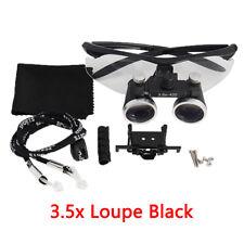 Dental Loupes Dental Magnifier Len Magnification Binocular Glasses 35x420 Black