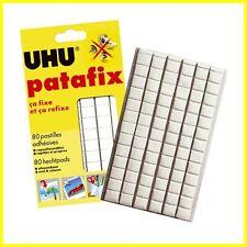 UHU Patafix Glue Pads - White Reusable Removable - 80 Pack