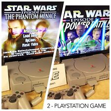 2 STAR WARS EPISODE I PHANTOM JEDI PS1 Game Sony PlayStation 1 Tested #9TO5PAWN