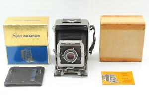 [EXC+5 in Box] Graflex Super Graphic 4x5 Camera + Optar 127mm Lens From JAPAN