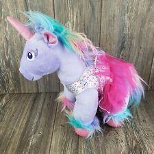Build A Bear Unicorn Beary Fairy Friends Purple Pastel Rainbow Stuffed Plush