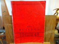 1948 ALGONA HIGH SCHOOL Iowa Original YEARBOOK Annual Bulldog