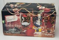 Twelve Days of Christmas Drinking Glasses Vintage Indiana Glass Complete in Box