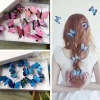 5Pcs Kostüm Braut Haar Dekor Tiara Schmetterling Haarspangen Hochzeit Pins