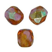 50 Perles Facettes cristal de boheme 4mm - TOPAZ POUDRE AB