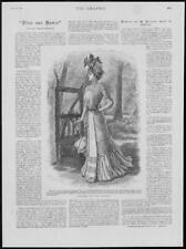 1900 Antique Print - FASHION Costume Country Linen Embroidery Silk Bodice  (376)
