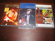 Eric Clapton DVDs Live at Montreux Crossroads Guitar Festival and Unplugged VHS