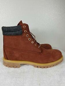 "Timberland Premium Boot 6"" A1UVX Rust Nubuck Mens Size 11 Waterproof"