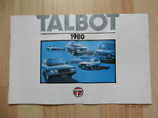 Catalogue gamme TALBOT 1980 simca sunbeam lotus matra