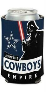 Dallas Cowboys NFL Can Holder Cooler Koozie  Star Wars Team Darth Vader