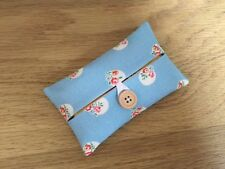 Handmade Packet Tissue Holder Made Using Cath Kidston Blue Floral Spot Fabric