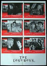 THE LOST BOYS 87 Very Rare VAMPIRE Photo Sheet Lobby Card Movie poster