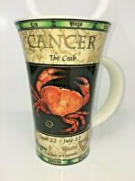 DUNOON Fine Stoneware Zodiac Horoscope Tall Mug, Jack Dadd, Cancer The Crab, NEW