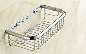 Polished Chrome Brass Wall Mounted Shower  Basket Shelves Caddy Storage eba524