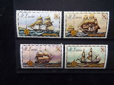 St. Lucia: 1973 Historic Ships MNH