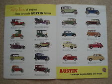 1905-1955 AUSTIN JUBILEE FIFTY YEARS OF DEPENDABILITY CAR BROCHURE