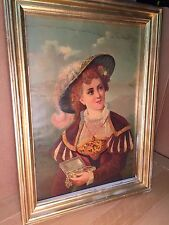 Stunning Antique/ Vintage Poster Gibson  Girl 1930's- 40'